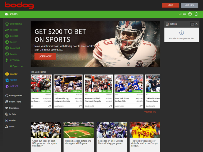 bodog betting lines nfl